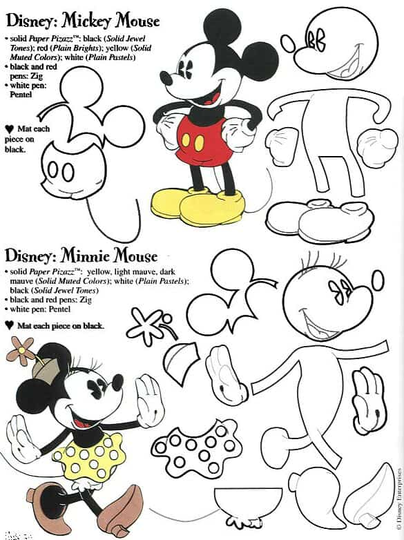 Moldes grandes de Mickey Mouse - Imagui