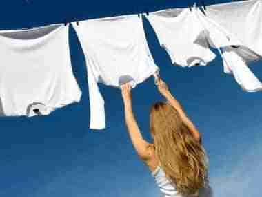 Blanquear ropa amarillenta