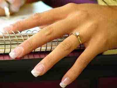 anillo dedo