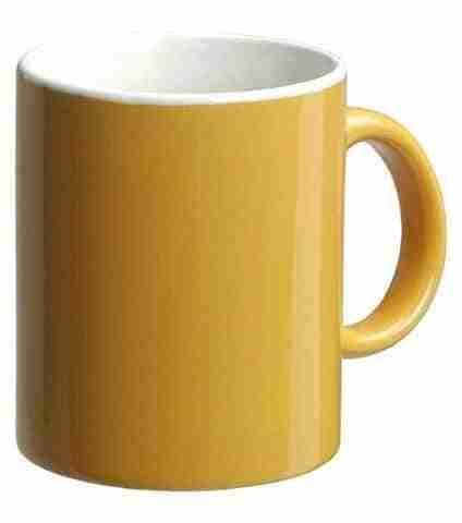 taza amarilla