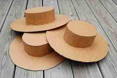sombreros de carton