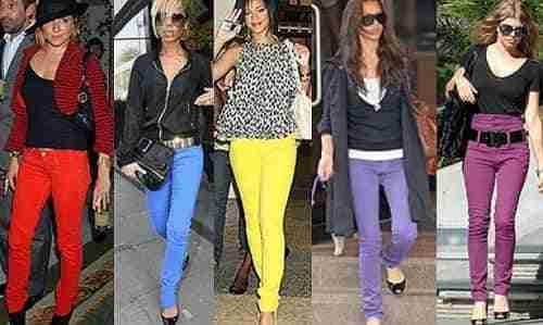 Trucos para combinar pantalones de colores