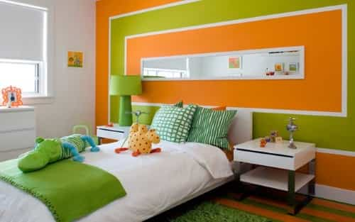 Ideas geniales para decorar dormitorios coloridos - Pintar pared dormitorio ...