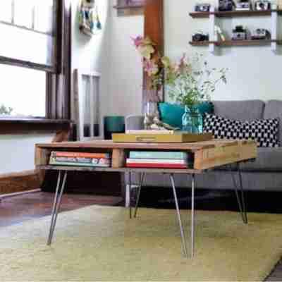 DIY una mesa de palé para el salón