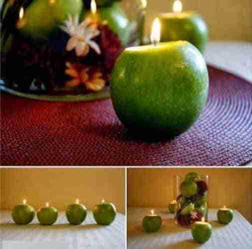 C mo hacer velas arom ticas con manzanas verdes - Como hacer velas en casa ...