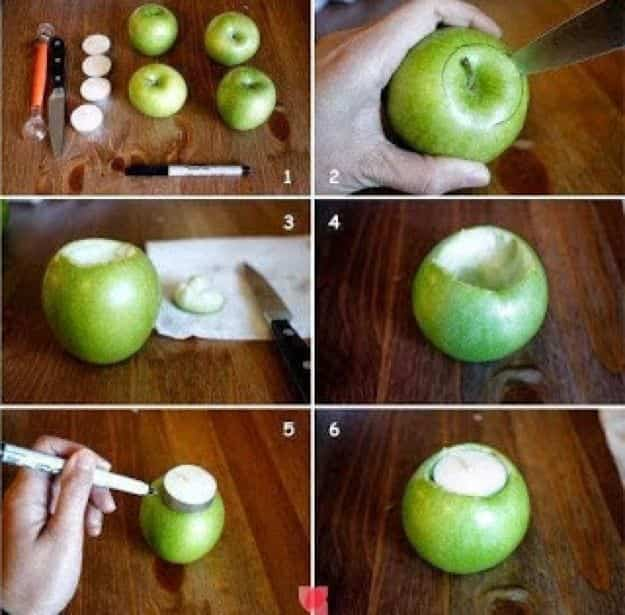 Como Hacer Velas Aromaticas Con Manzanas Verdes Bricoinventos - Comohacer-velas