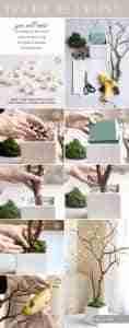 arbol de flores de papel