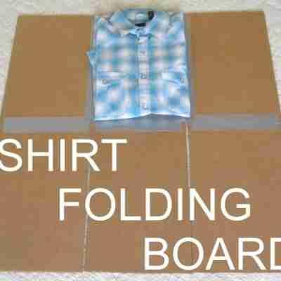 Cómo hacer un doblador de ropa casero