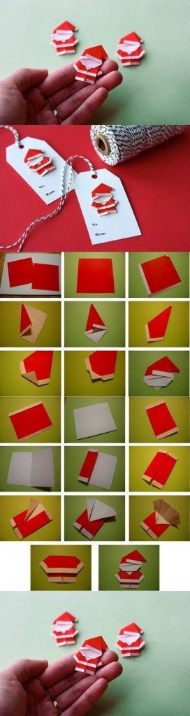 santa claus en origami