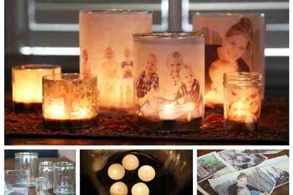 Aprende a decorar un bote de cristal con fotos familiares